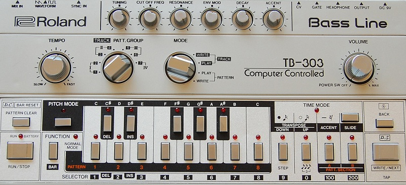 Roland TB-303, photo from Wikipedia