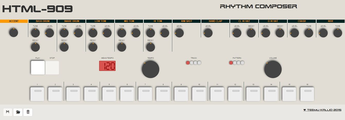 HTML5 Roland TR-909